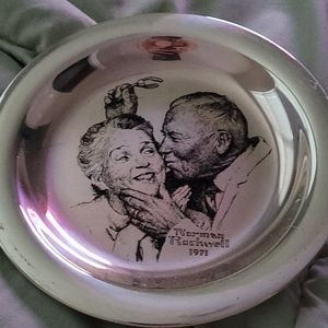 Norman Rockwell silver 1971 plate